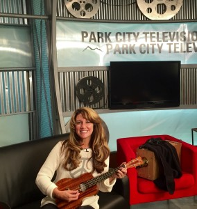 Playing Ukelele on Park City TV