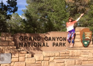 Arriving at the Grand Canyon