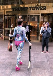 Gigi Love goes to Trump Tower to Protest